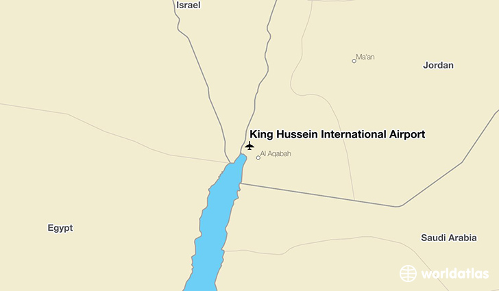 King Hussein International Airport location on a map
