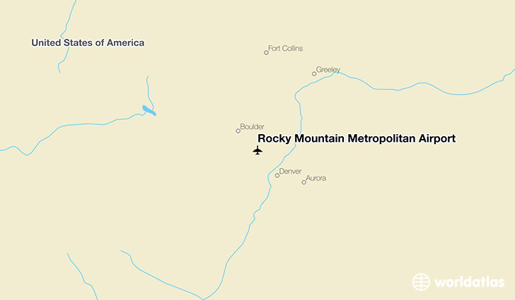 Rocky Mountain Metropolitan Airport location on a map