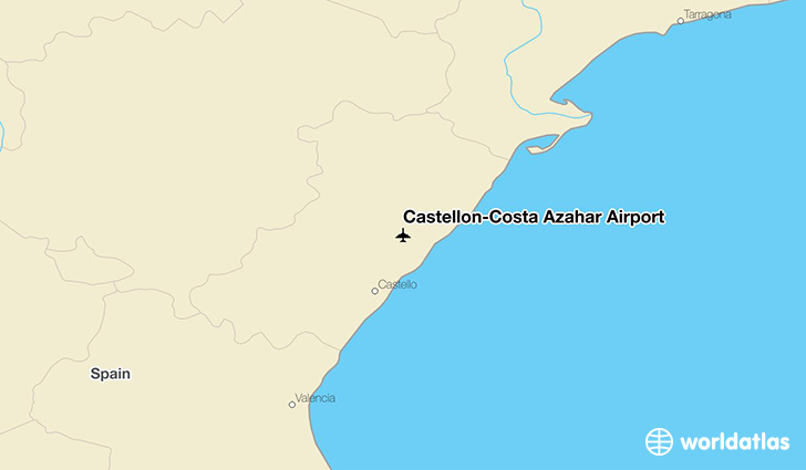 Castellón-Costa Azahar Airport location on a map