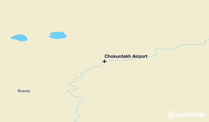 Chokurdakh Airport location on a map