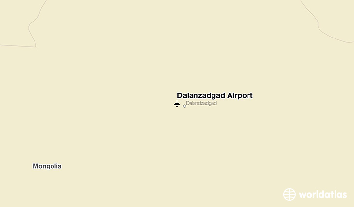 Dalanzadgad Airport location on a map