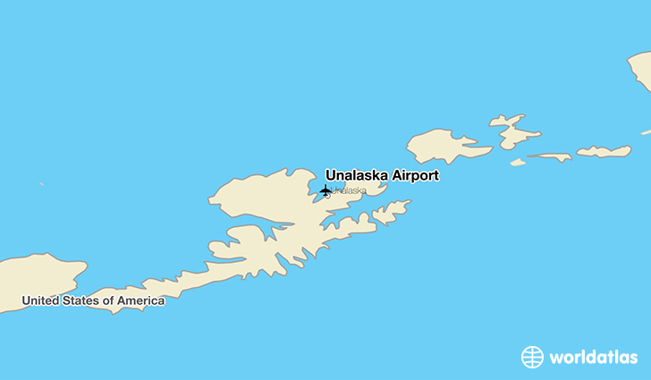 Unalaska Airport location on a map