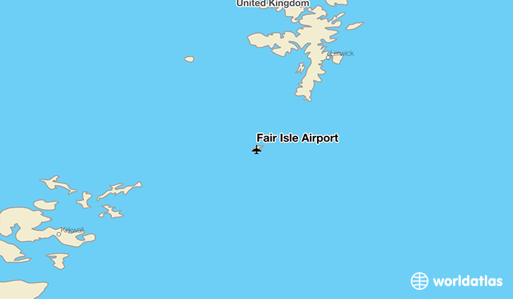 Fair Isle Airport location on a map
