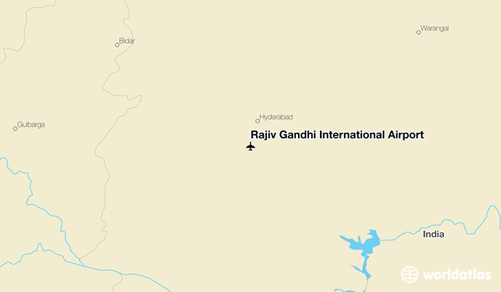 Rajiv Gandhi International Airport location on a map