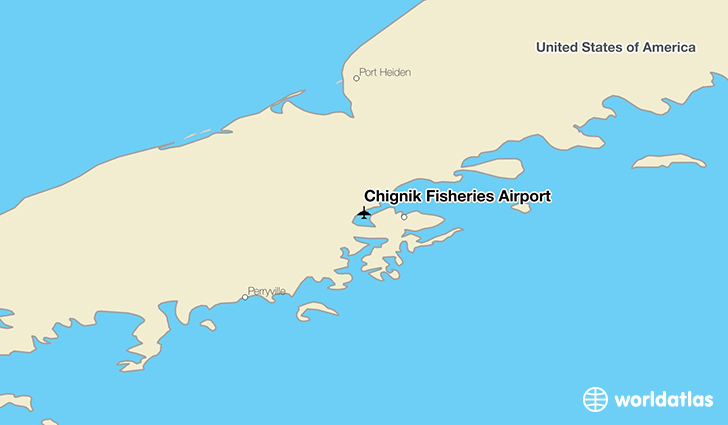 Chignik Fisheries Airport location on a map