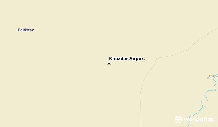 Khuzdar Airport location on a map