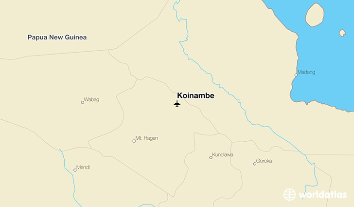 Koinambe location on a map