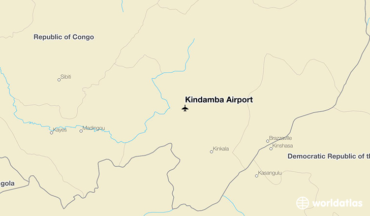 Kindamba Airport location on a map