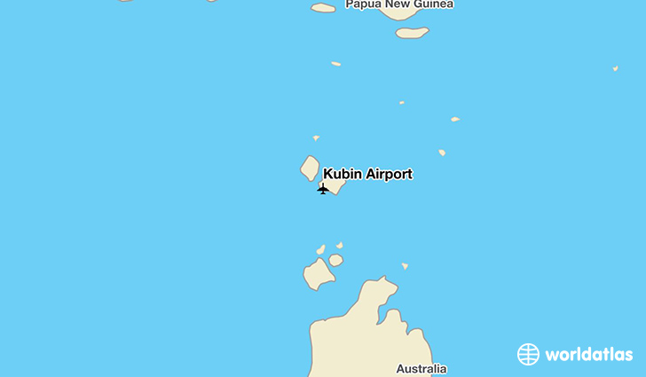 Kubin Airport location on a map