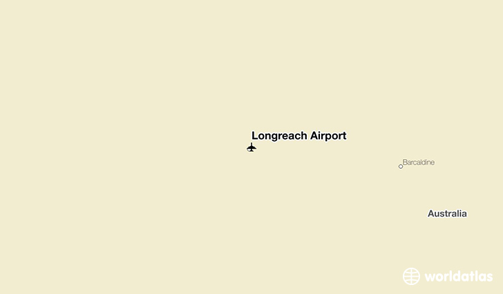 Longreach Airport location on a map