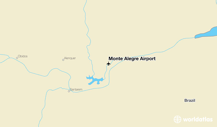 Monte Alegre Airport location on a map