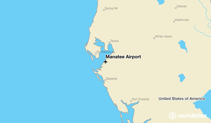 Manatee Airport location on a map