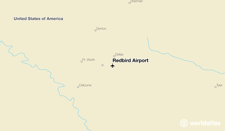 Redbird Airport location on a map