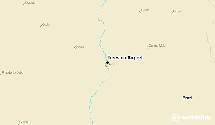 Teresina Airport location on a map