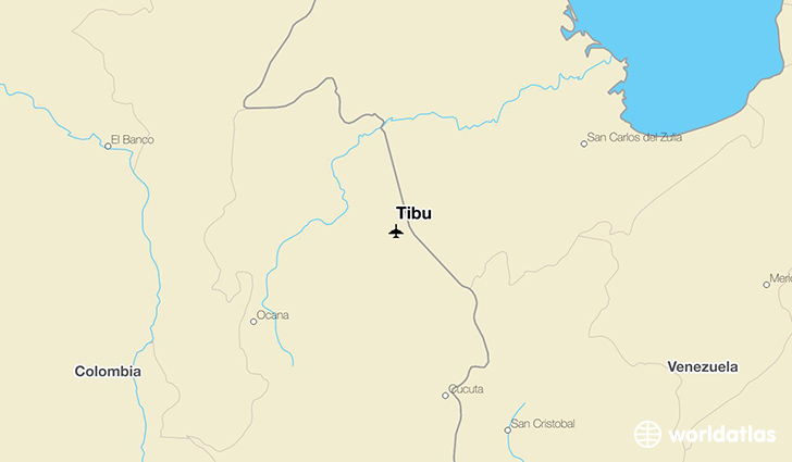 Tibu location on a map