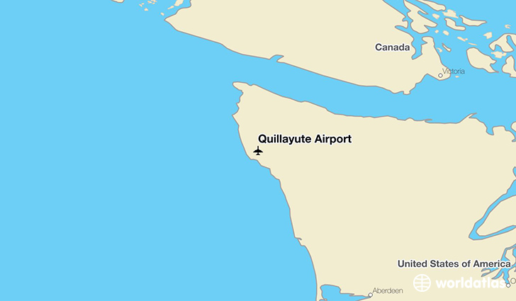 Quillayute Airport location on a map