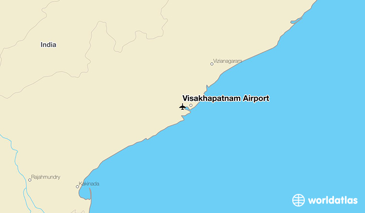 Visakhapatnam Airport location on a map