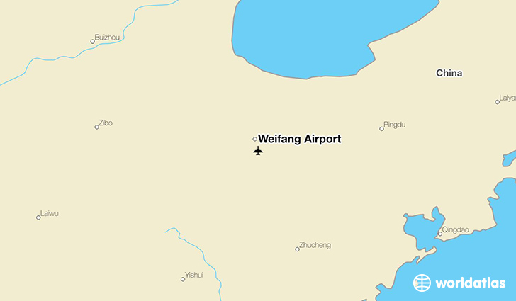 Weifang Airport location on a map
