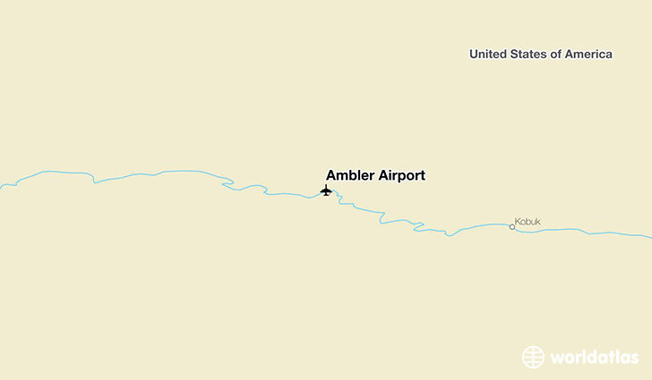 Ambler Airport location on a map