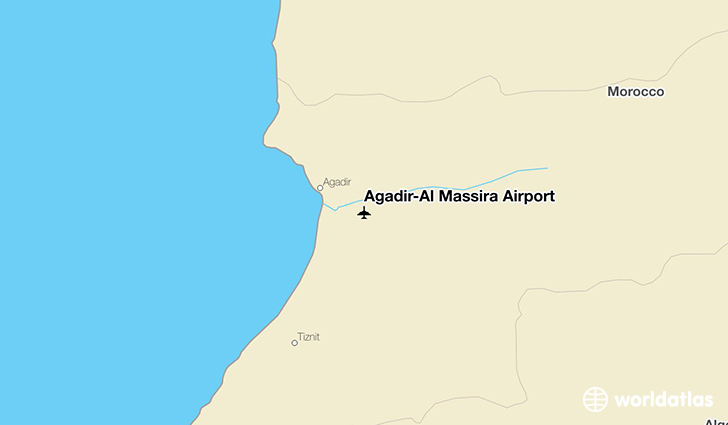 Agadir–Al Massira Airport location on a map