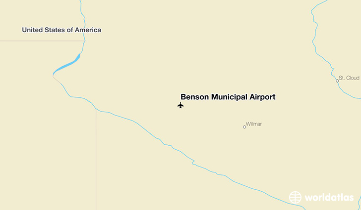Benson Municipal Airport location on a map