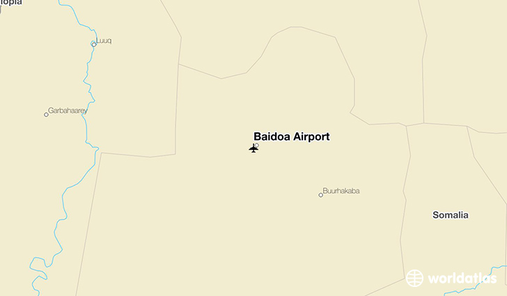 Baidoa Airport location on a map