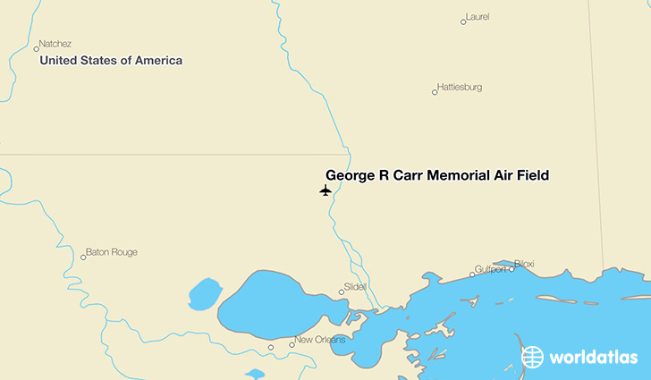 George R Carr Memorial Air Field location on a map