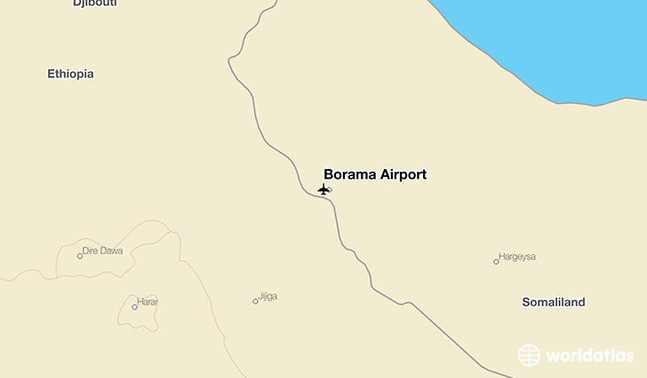 Borama Airport location on a map
