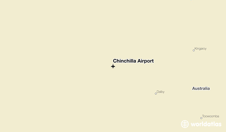 Chinchilla Airport location on a map