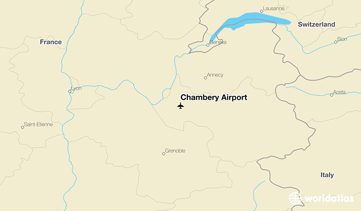 Chambéry Airport location on a map