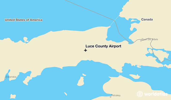 Luce County Airport location on a map
