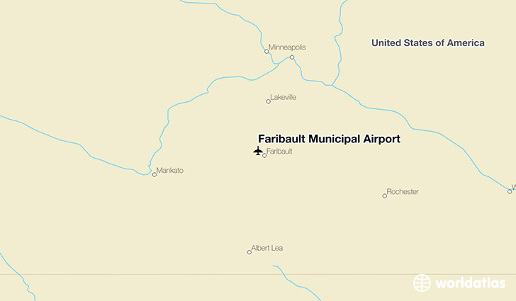 Faribault Municipal Airport location on a map