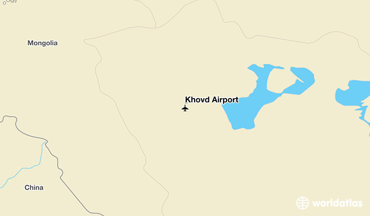 Khovd Airport location on a map