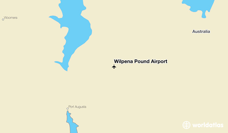 Wilpena Pound Airport location on a map