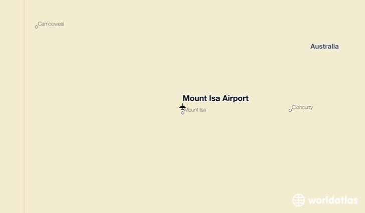 Mount Isa Airport location on a map