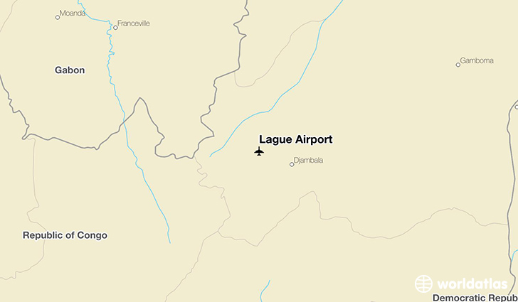 Lague Airport location on a map