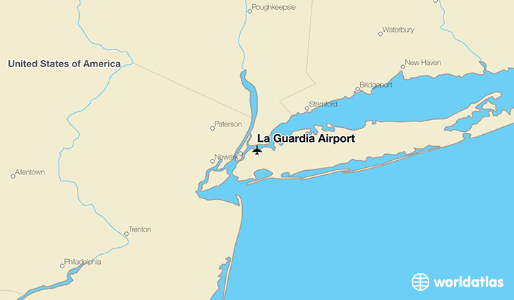 La Guardia Airport location on a map