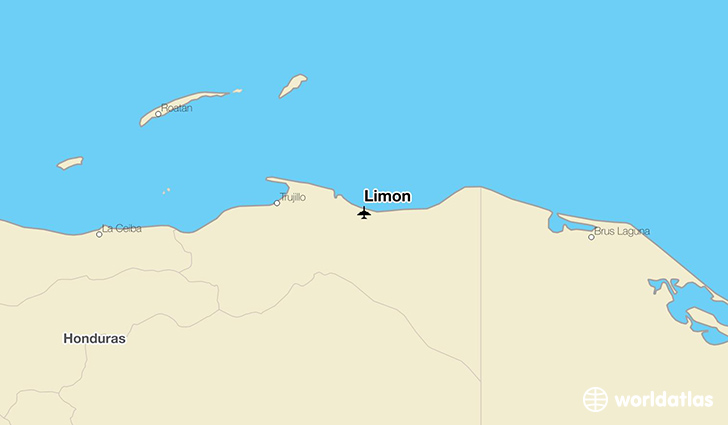 Limon location on a map