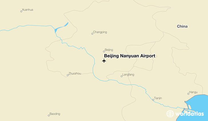 Beijing Nanyuan Airport location on a map