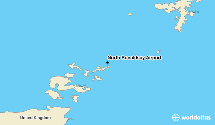 North Ronaldsay Airport location on a map