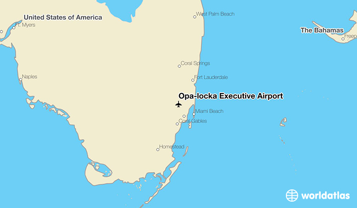 Opa-locka Executive Airport location on a map