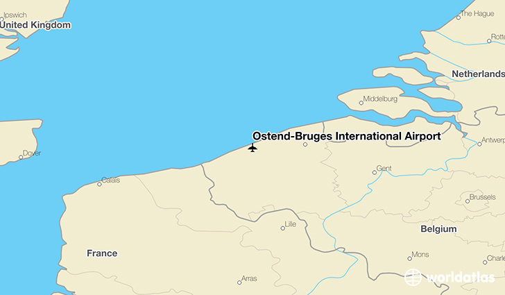 Ostend-Bruges International Airport location on a map