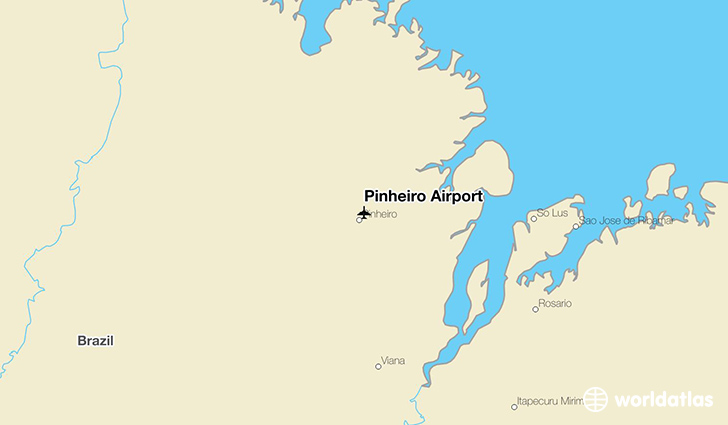 Pinheiro Airport location on a map