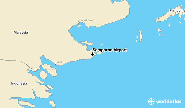 Semporna Airport location on a map