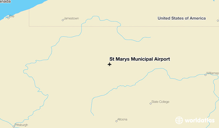 St Marys Municipal Airport location on a map