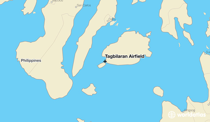Tagbilaran Airfield location on a map