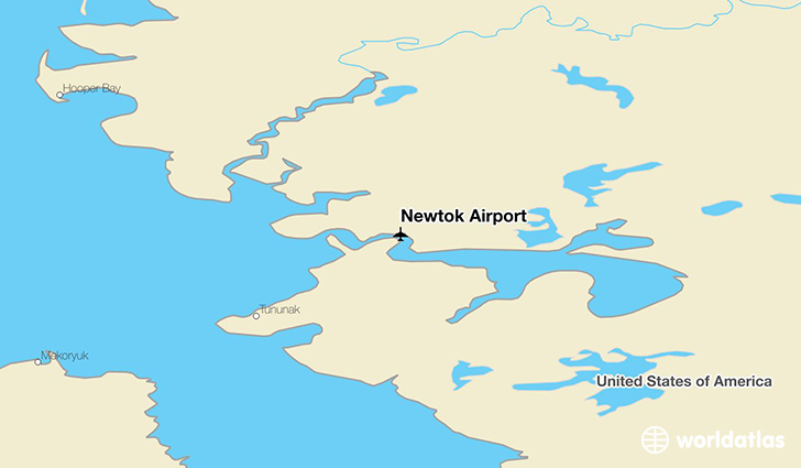 Newtok Airport location on a map