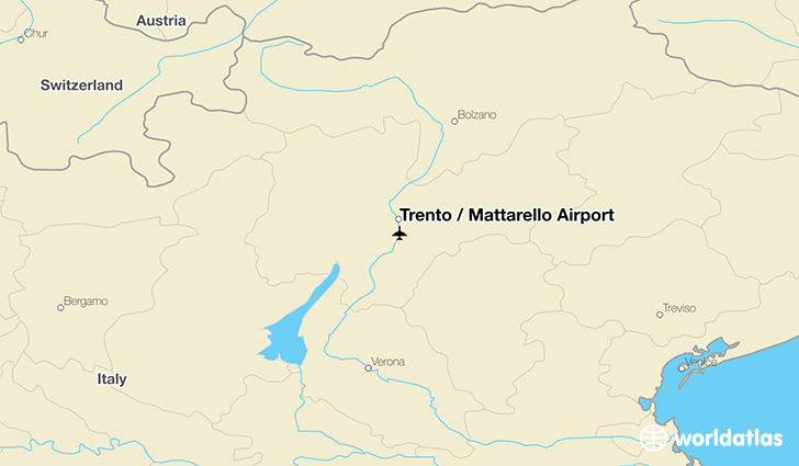 Trento / Mattarello Airport location on a map