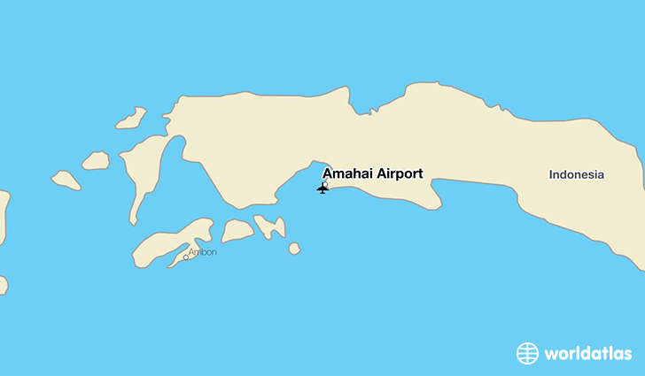 Amahai Airport location on a map
