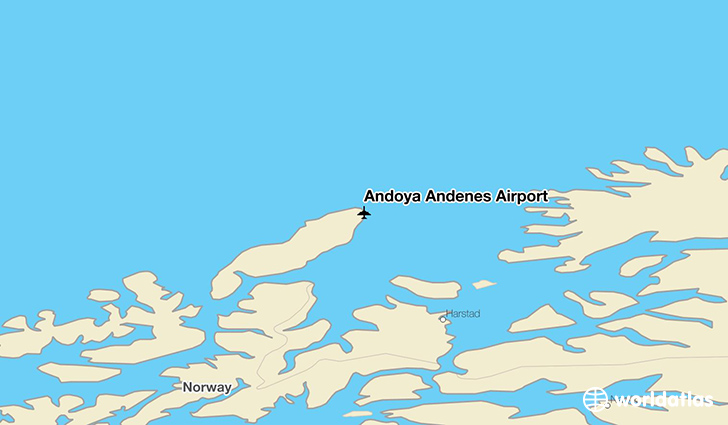 Andøya Andenes Airport location on a map